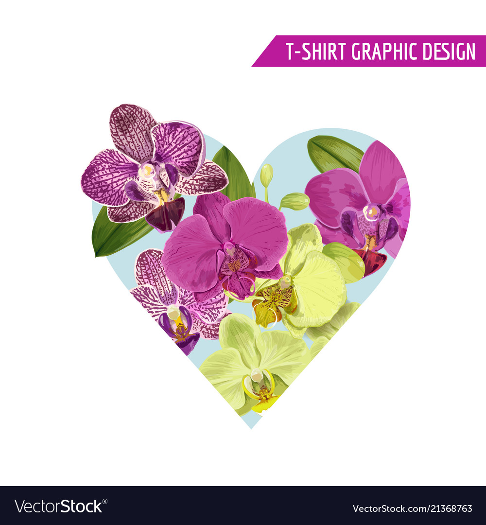 Love romantic floral heart spring summer design