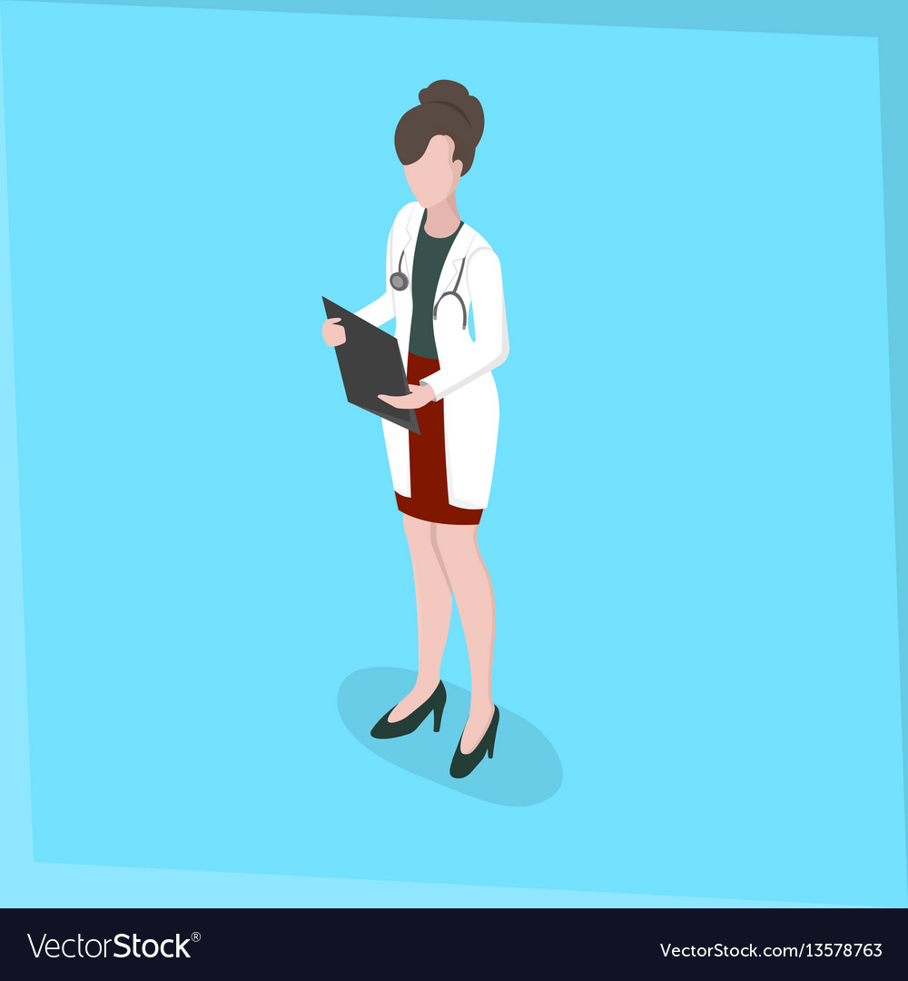 Medical staff woman doctor vector image