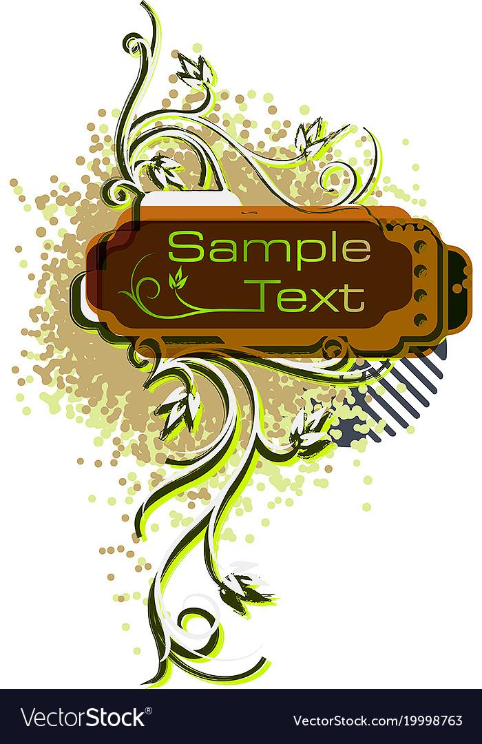 Retro styled background vector image