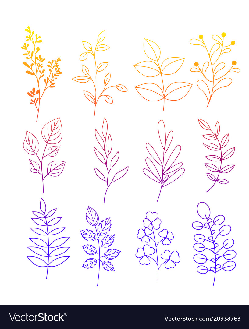 Set of simple doodles of
