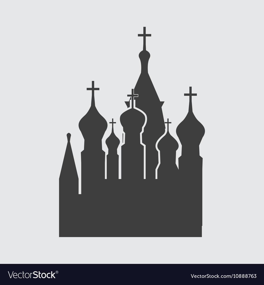 St Basils Church icon vector image