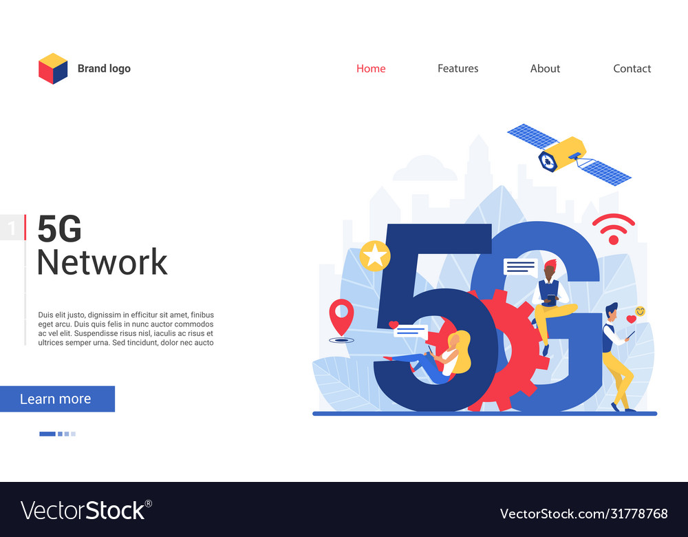 5g network concept cartoon