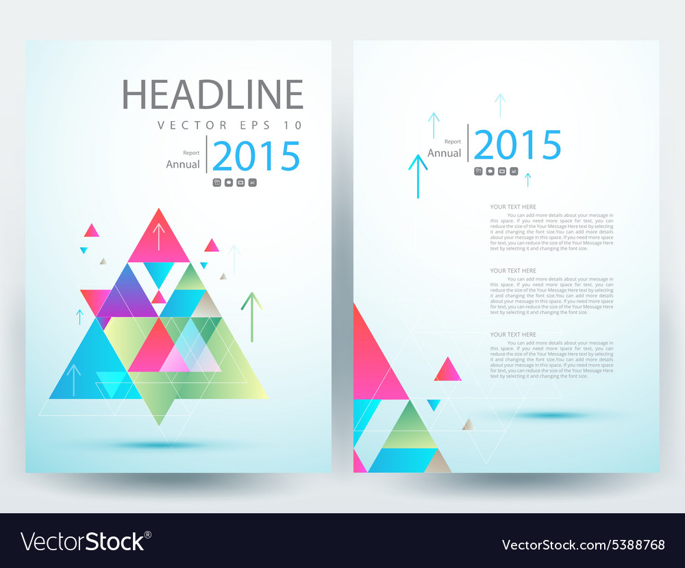 Abstract modern flyers brochure annual report