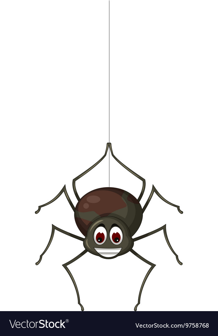 Cute spider cartoon for you design Royalty Free Vector Image