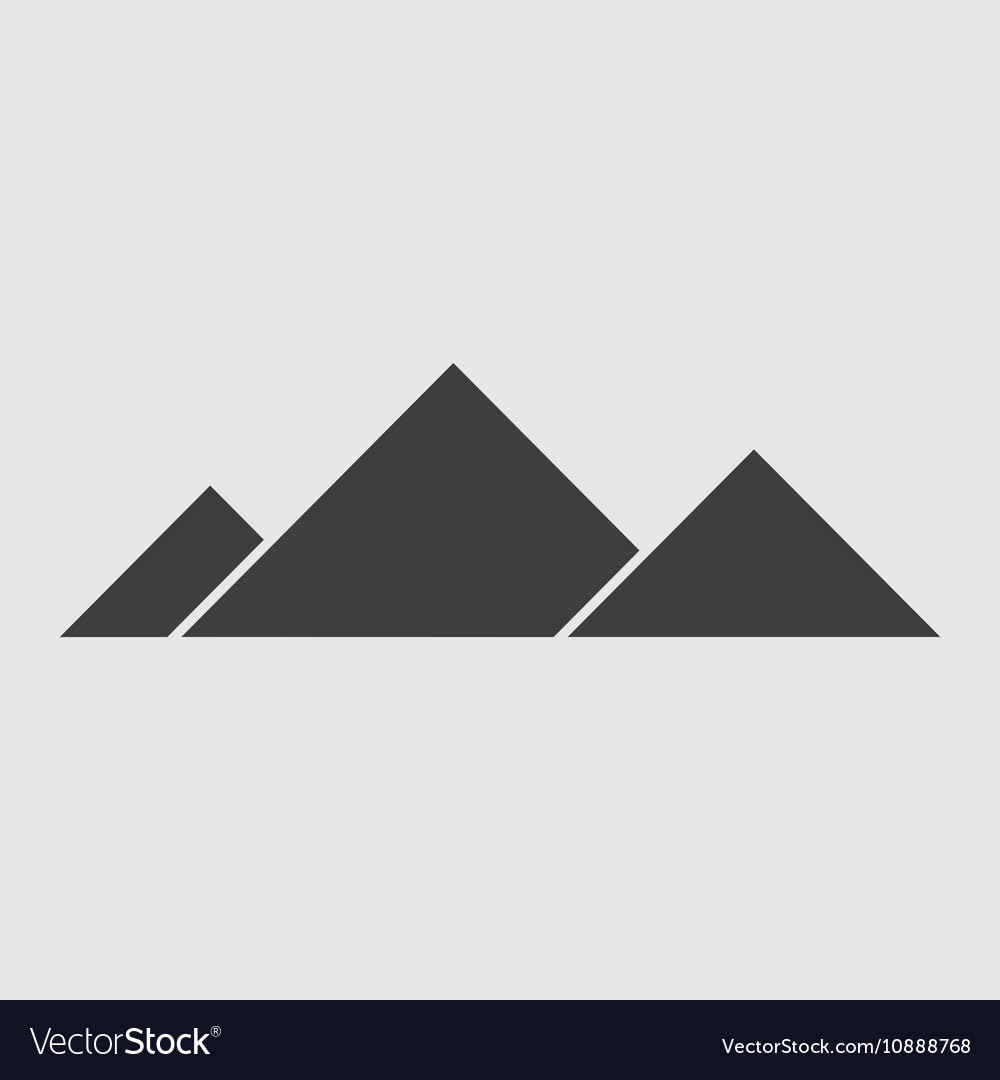 Egyptian pyramid icon