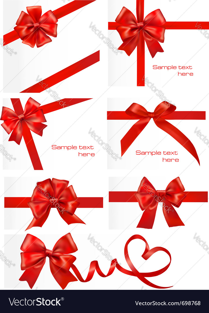 Red gift ribbons royalty free vector image vectorstock red gift ribbons vector image negle Gallery