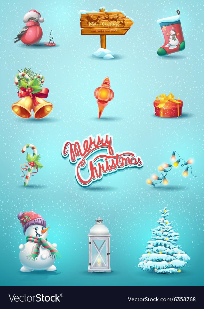 Set christmas elements