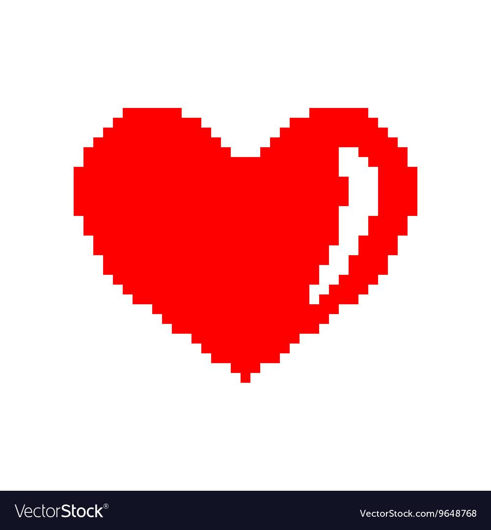 Sign pixel heart 207