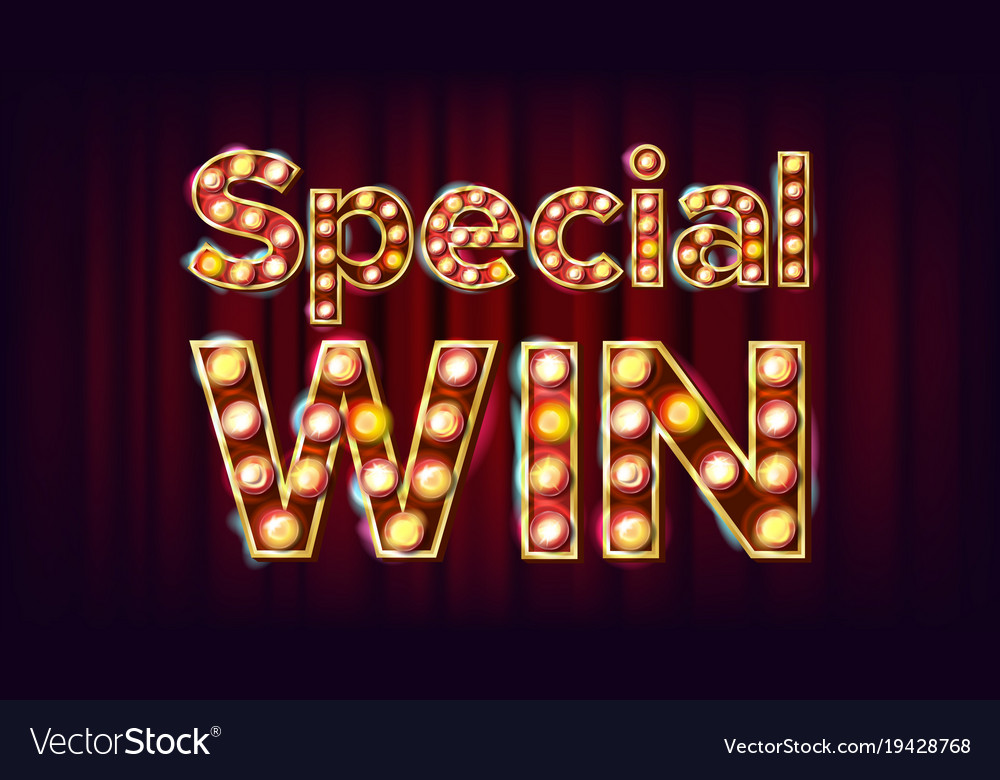 Special win banner casino vintage style