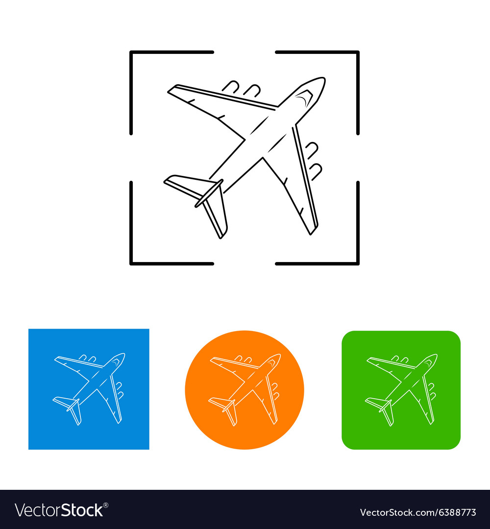 Airplanes thin outline icon