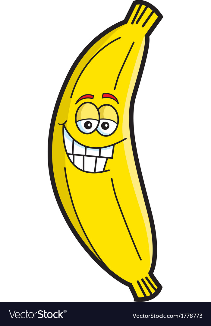 Cartoon Smiling Banana vector image