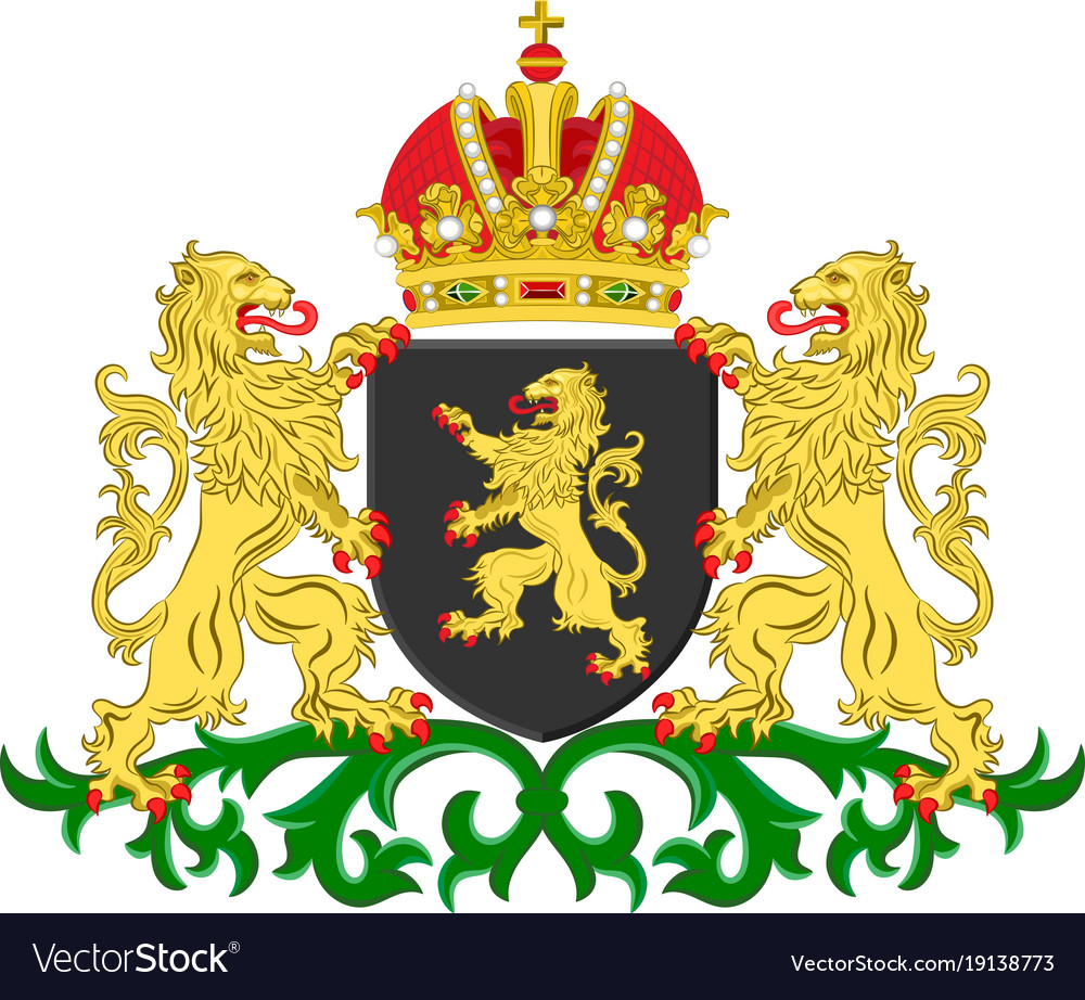 Coat of arms of north brabant netherlands vector image