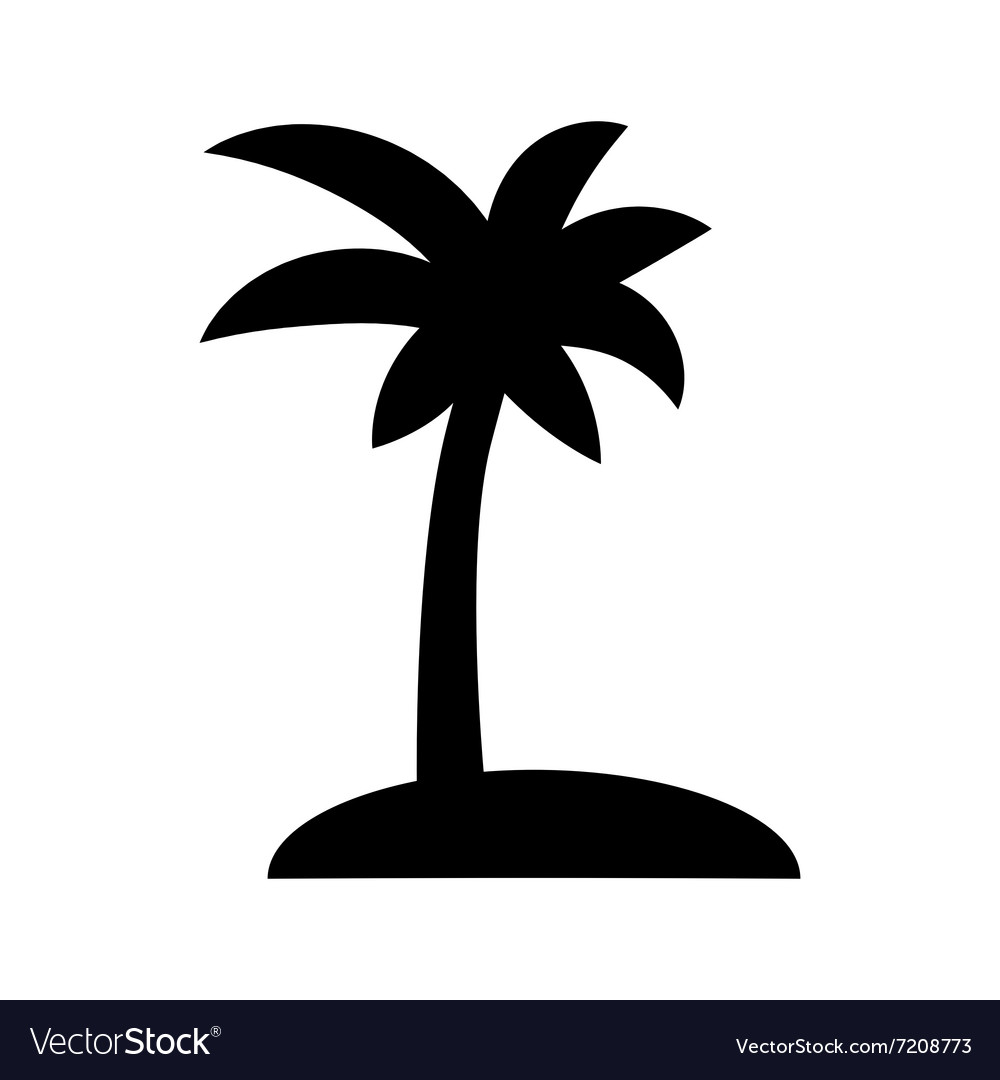 coconut palm tree royalty free vector image vectorstock rh vectorstock com palm tree vector clip art palm tree vector clip art