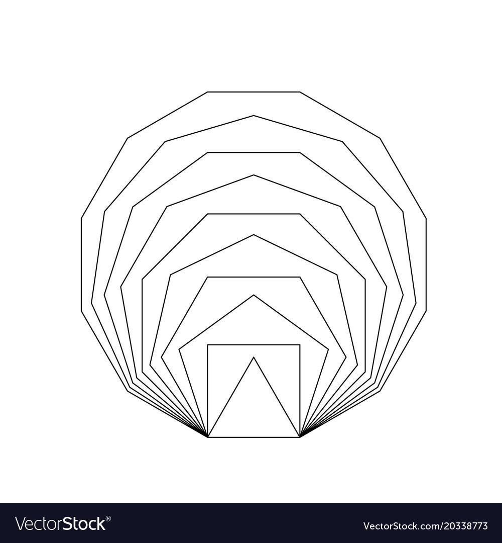 Golden Ratio Geometric Shapes Vector Image