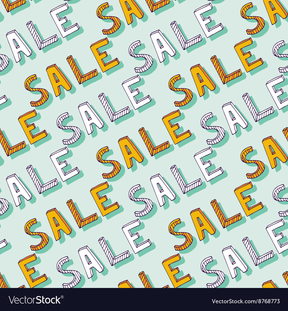 Hand drawn Sale pattern Doodle discount