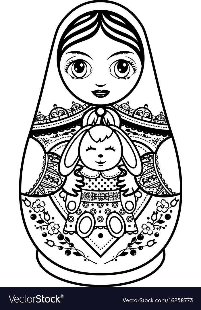 Matryoshka babushka doll