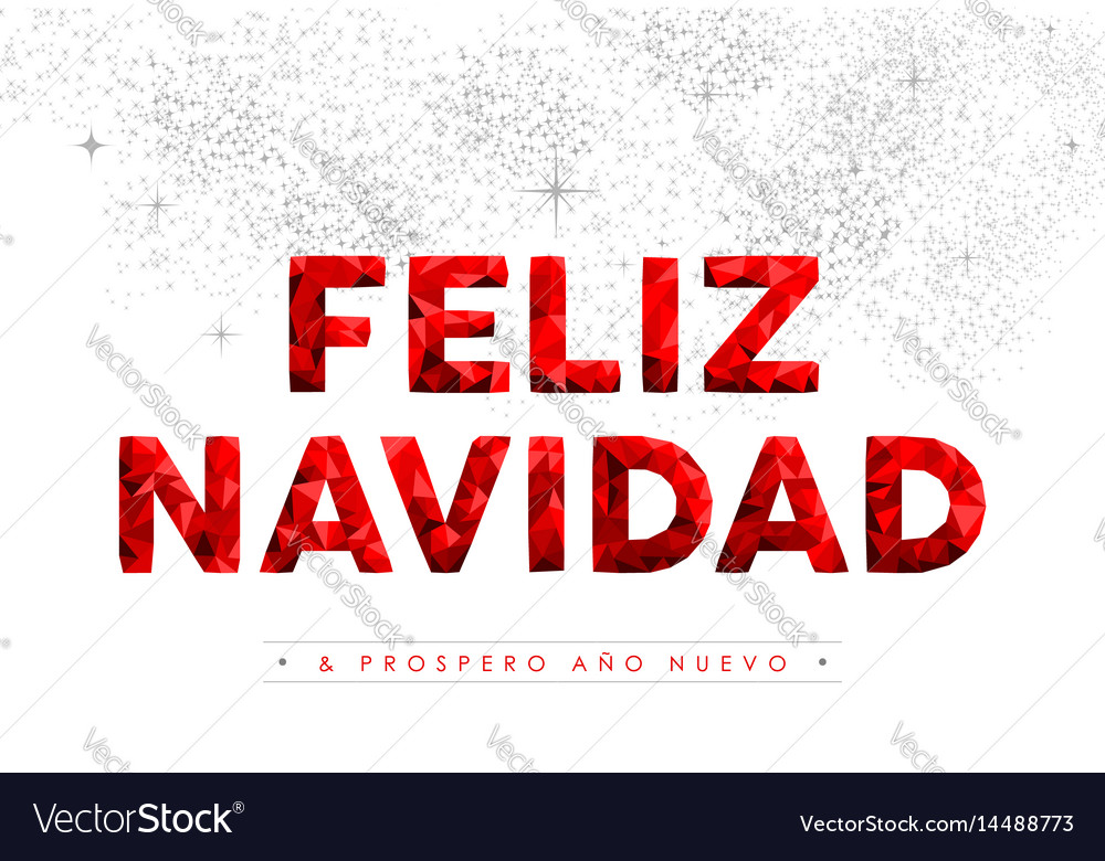merry christmas new year spanish language quote vector image - How Do You Say Merry Christmas In Spanish