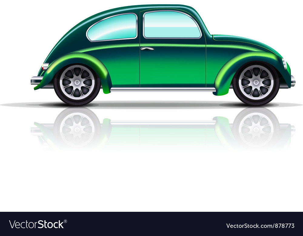 Old car beetle vector image