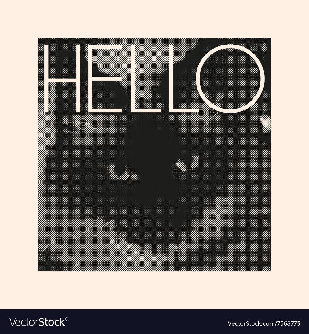 Retro design poster or t-shirt print vector image