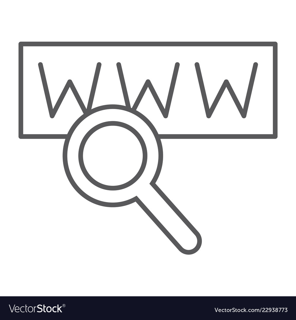 Search thin line icon internet and network