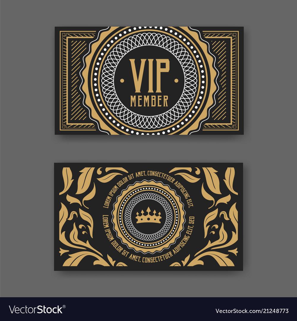 Vip membership card certificate template Vector Image For Template For Membership Cards