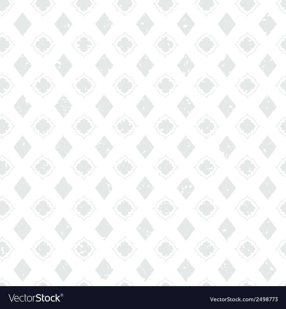 White Vintage Poker Diamond Distressed Background vector image