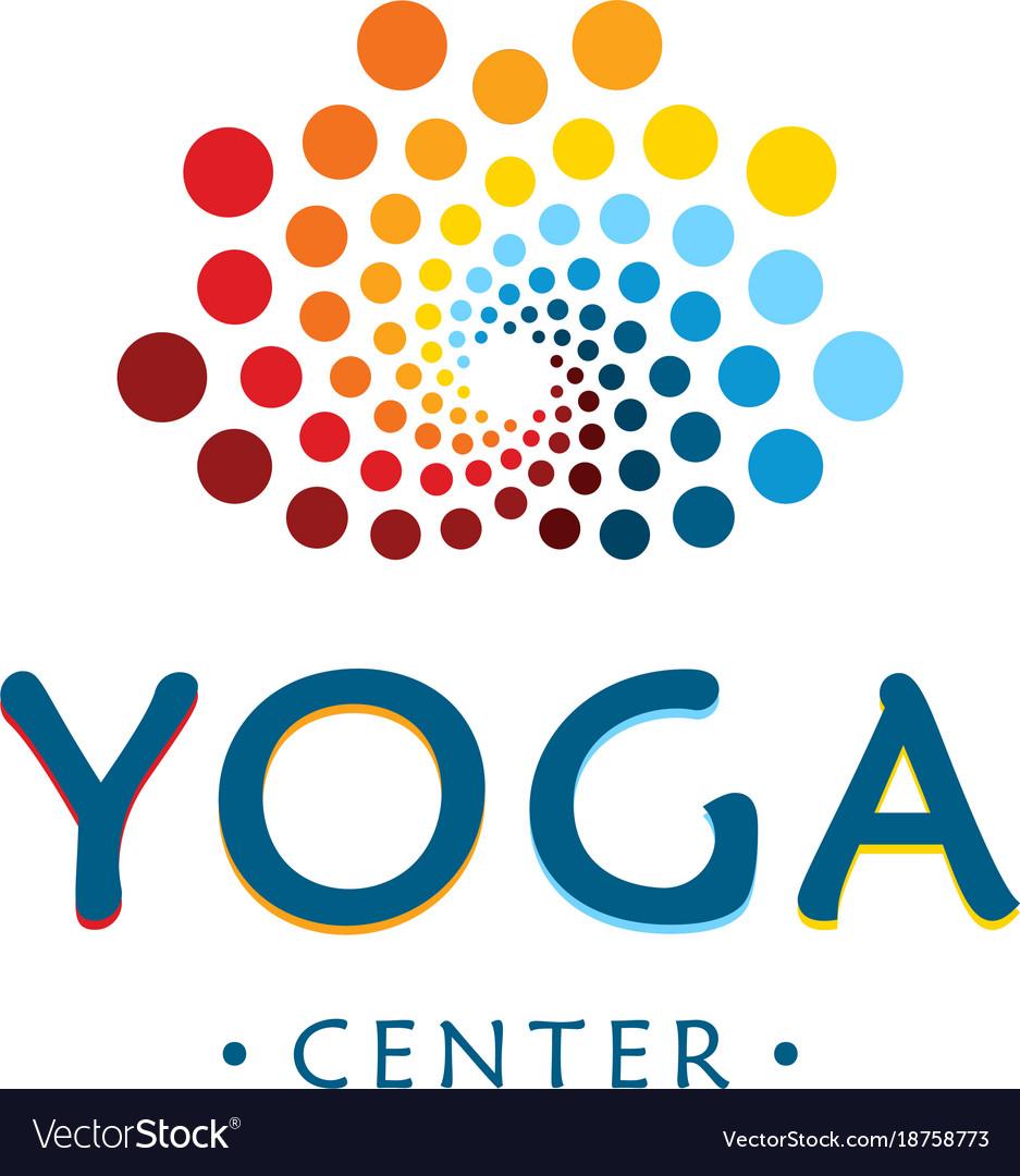 Yoga center logo abstract lotus beauty flower