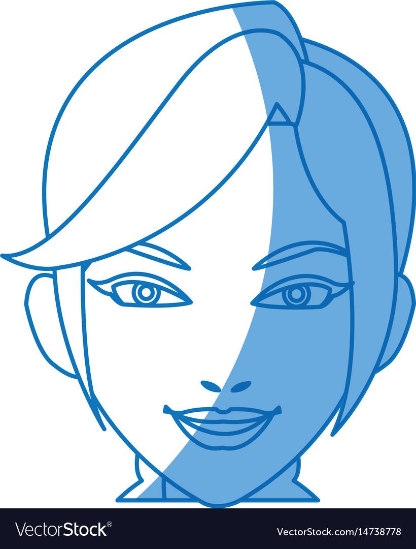 Cartoon character woman face design