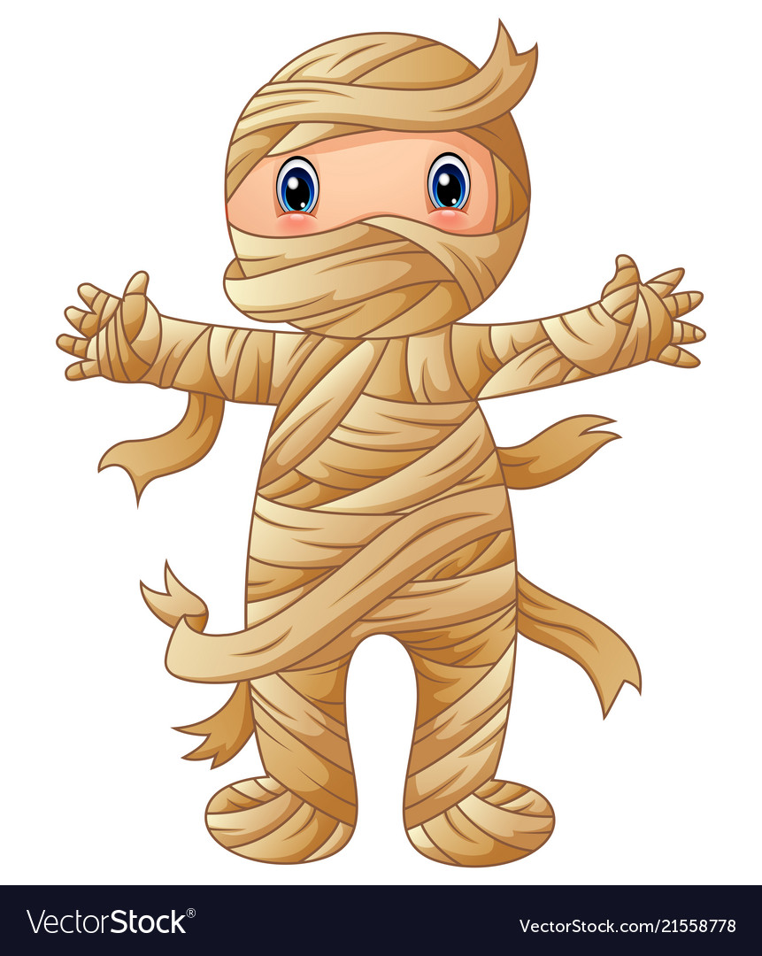 Cartoon Mummy Standing Royalty Free Vector Image