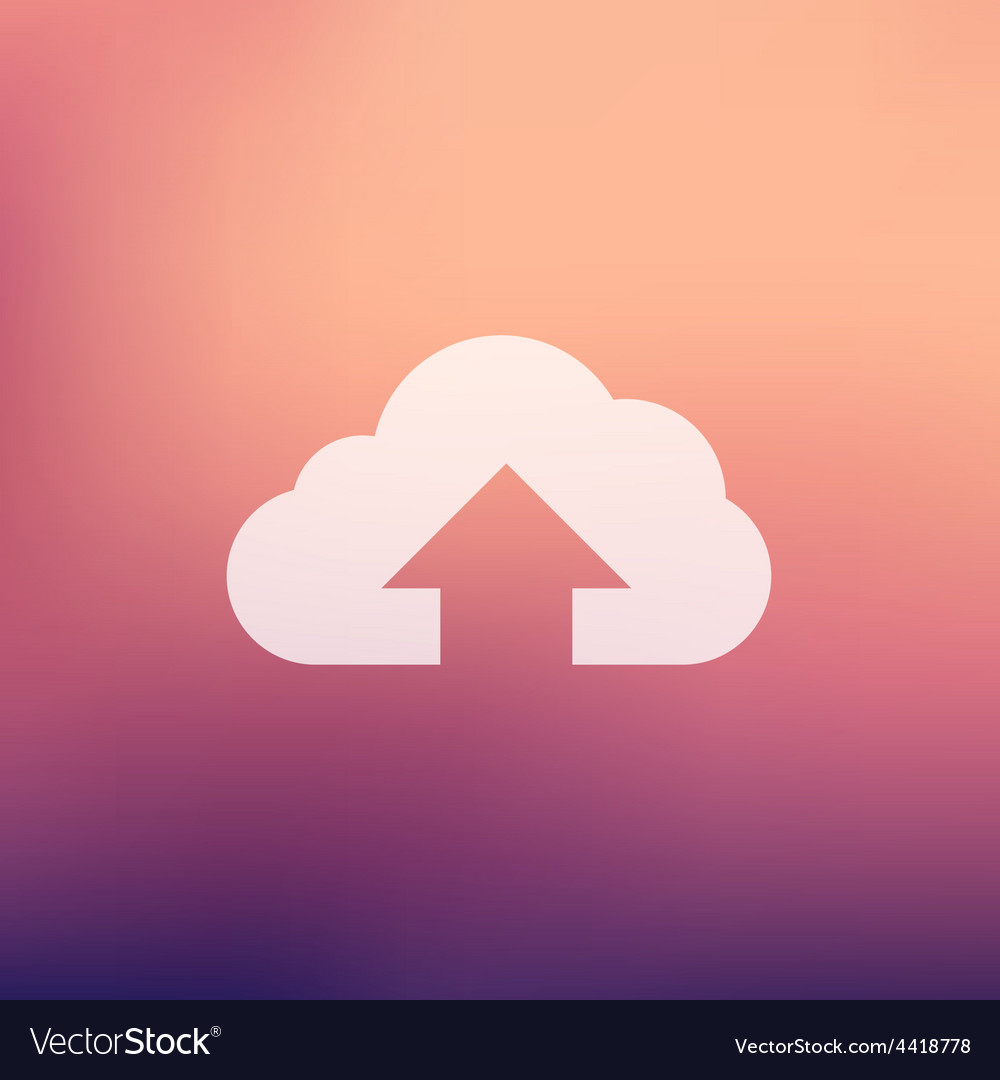 Cloud upload in flat style icon