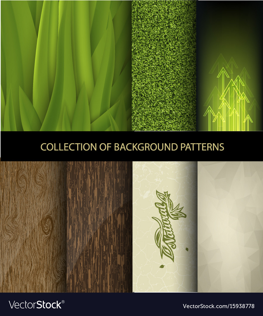 Collection set of background patterns
