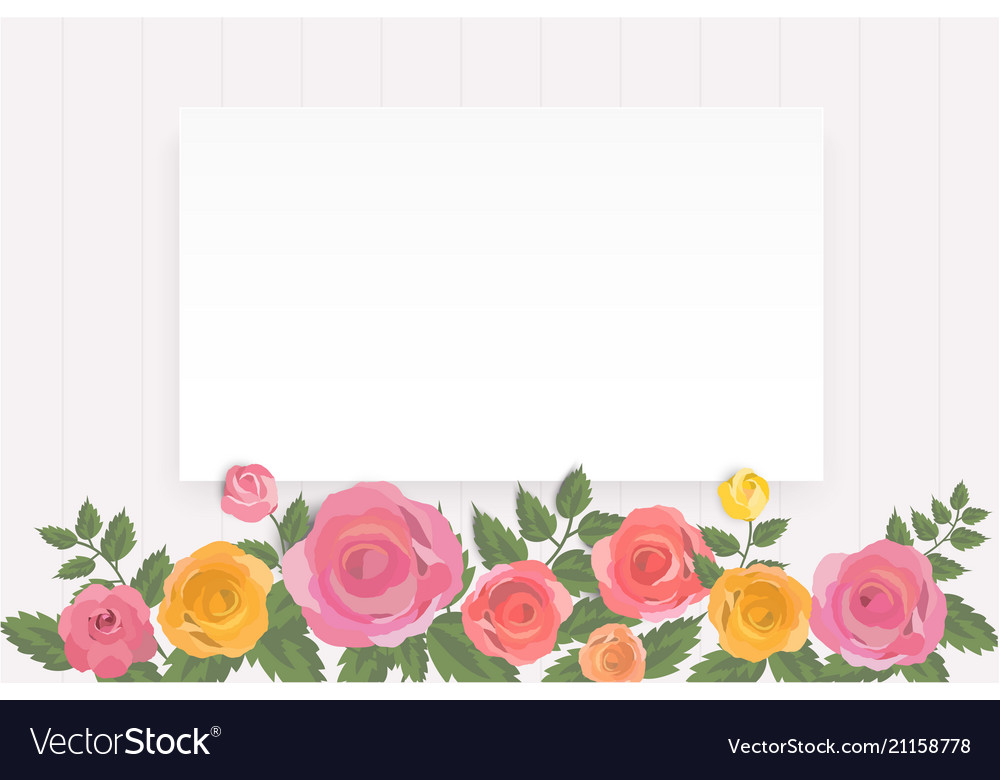 Colorful Roses Floral Invitation Card Template