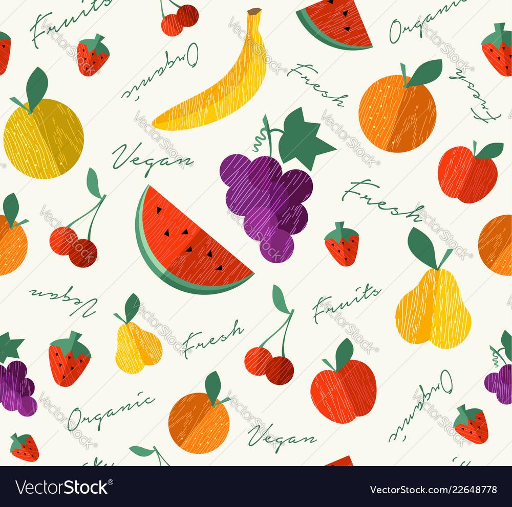 Fresh organic fruit for vegan food seamless