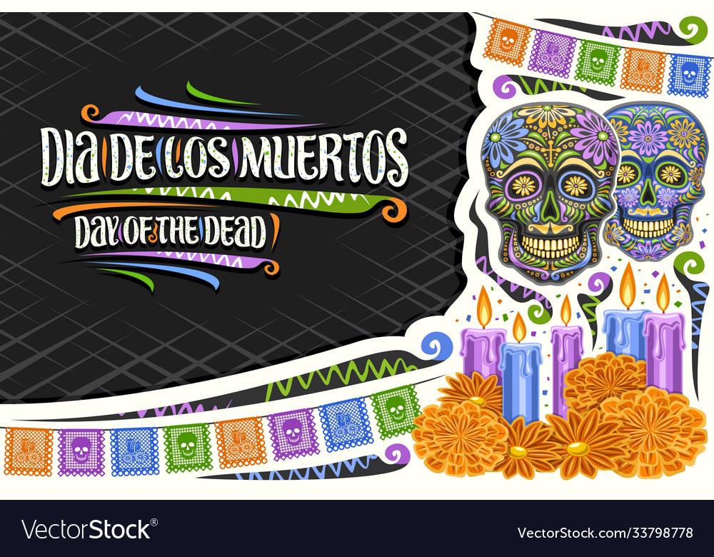 Greeting card for dia de los muertos