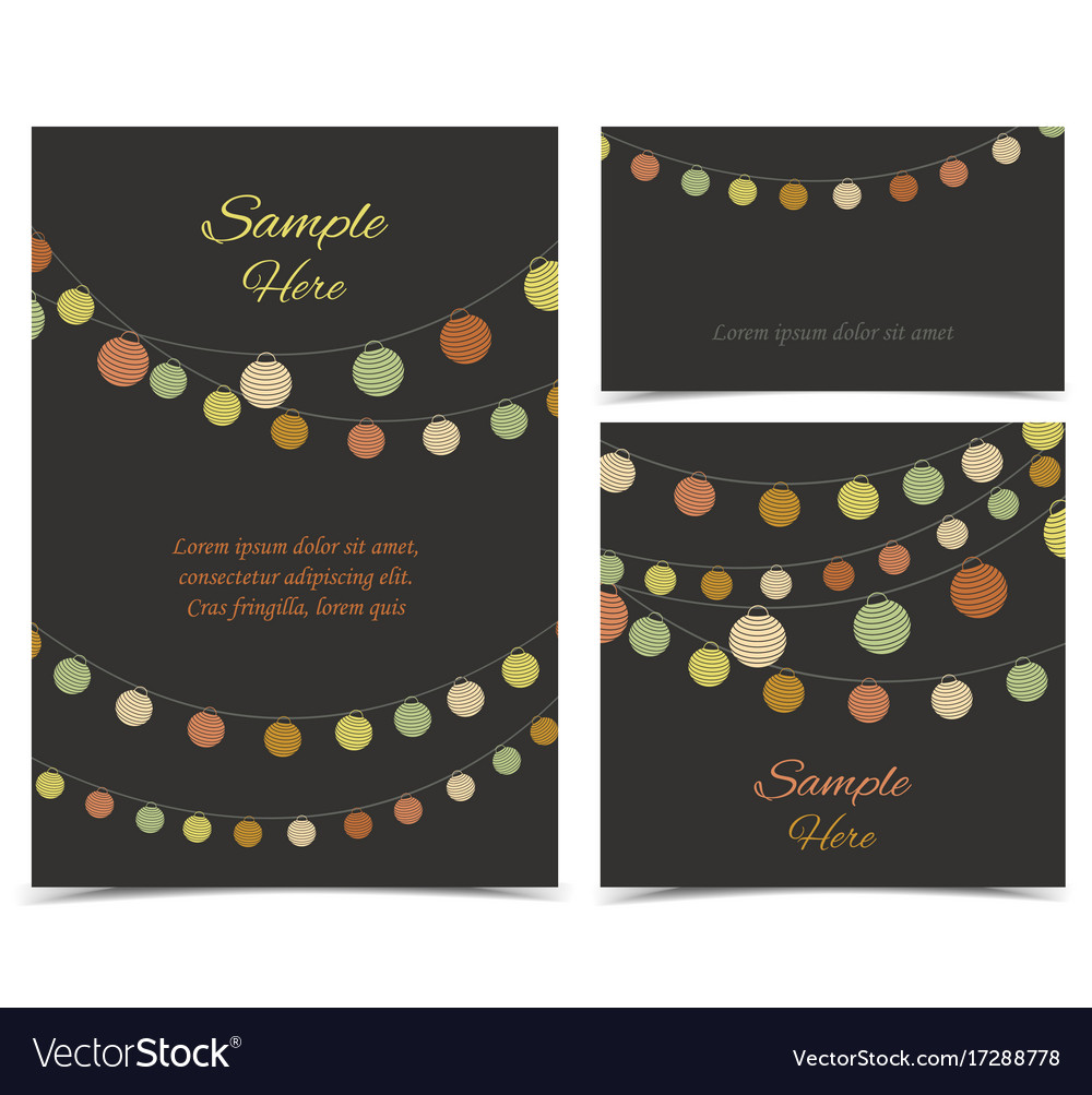 Invitation card party celebration vector image