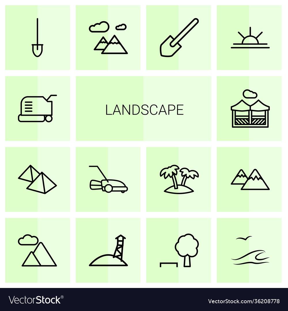 Landscape icons