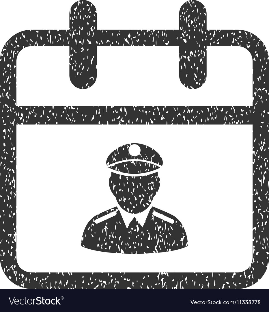 Police Day Grainy Texture Icon vector image