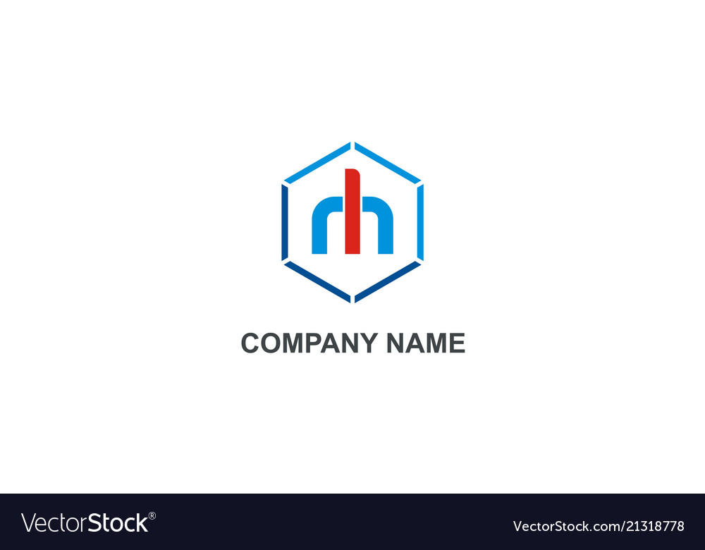 Polygon abstract letter m company logo