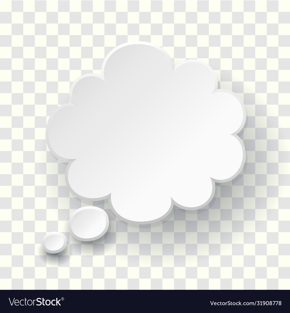 Thought text bubble symbol blank empty speech