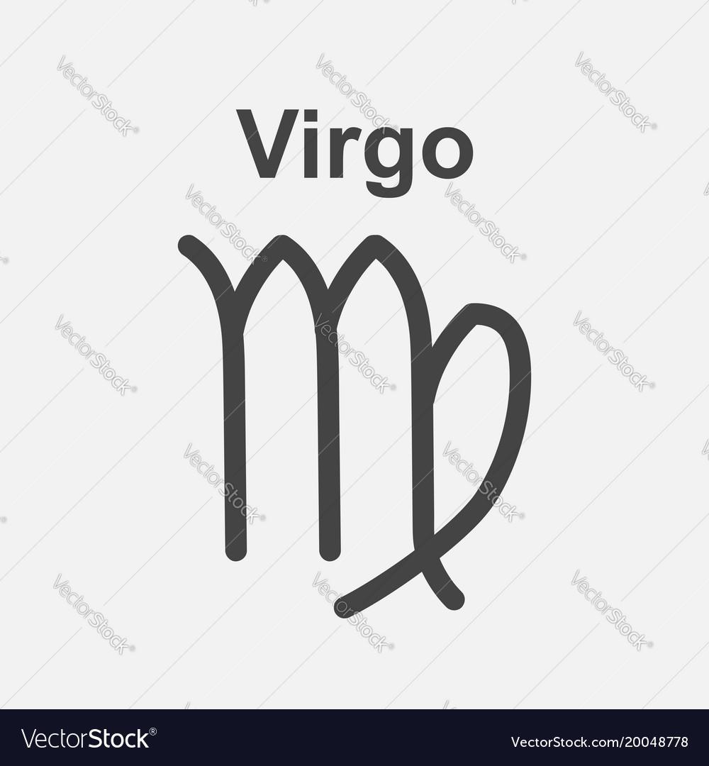 Virgo zodiac sign flat astrology on white vector image