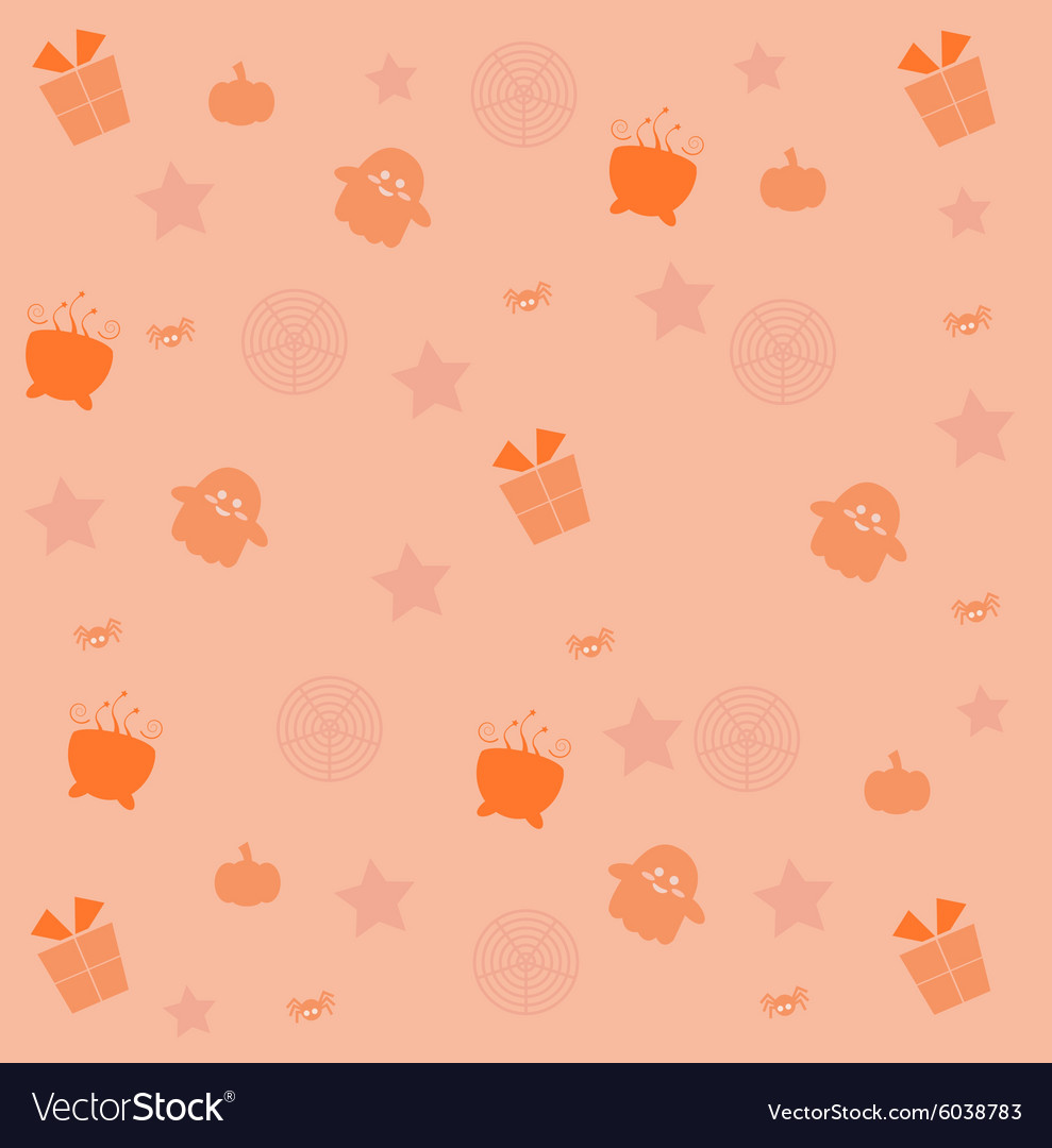 Halloween Email Background.Cute Halloween Background Royalty Free Vector Image