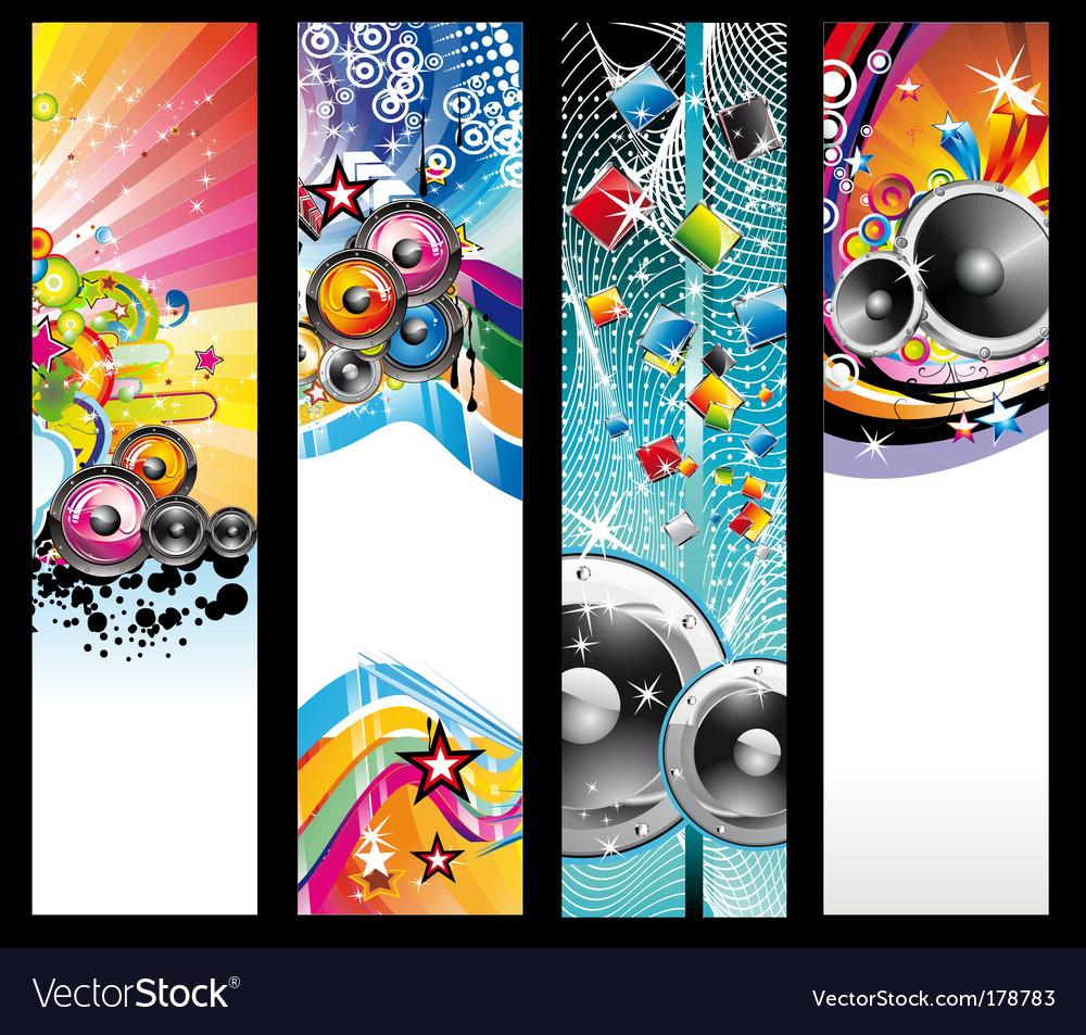 Discotheque Dj flyers vector image