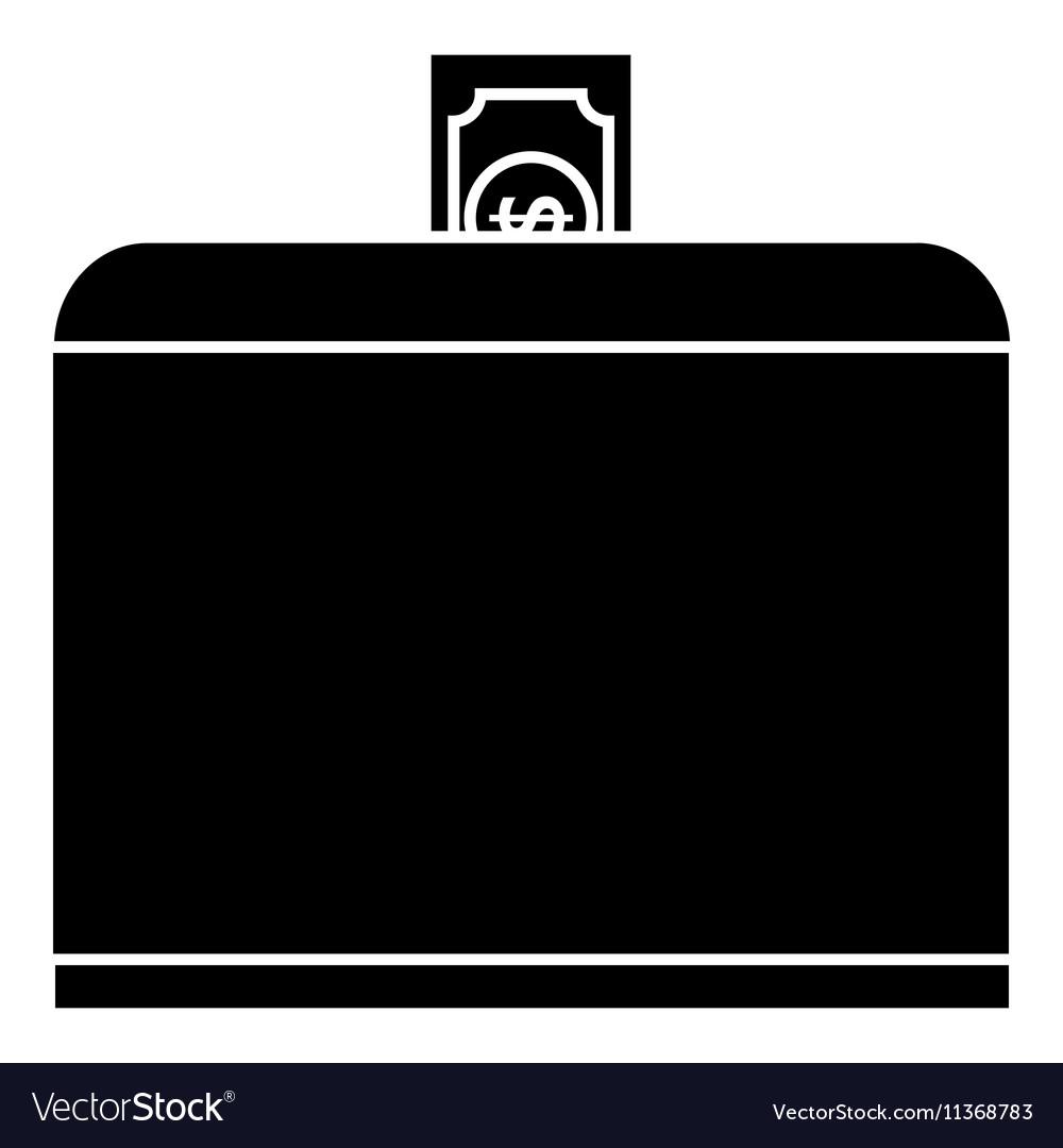 Donate money icon simple style