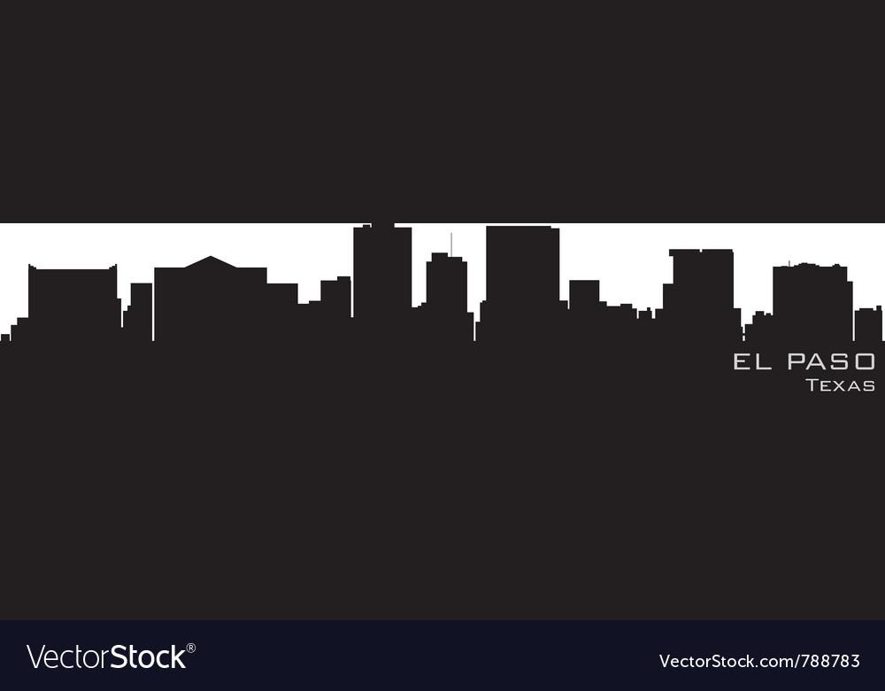 El paso texas skyline detailed silhouette vector image