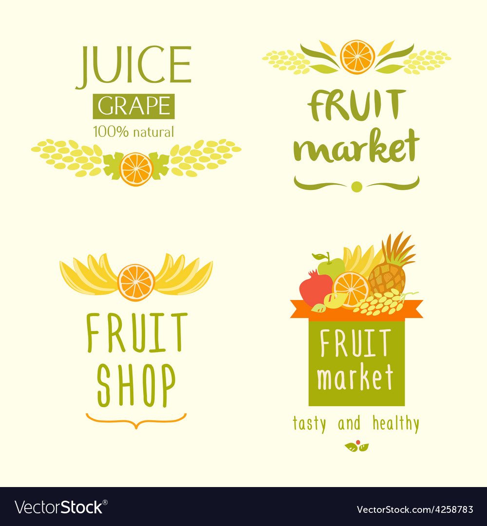 Fruit shop logo Juise label