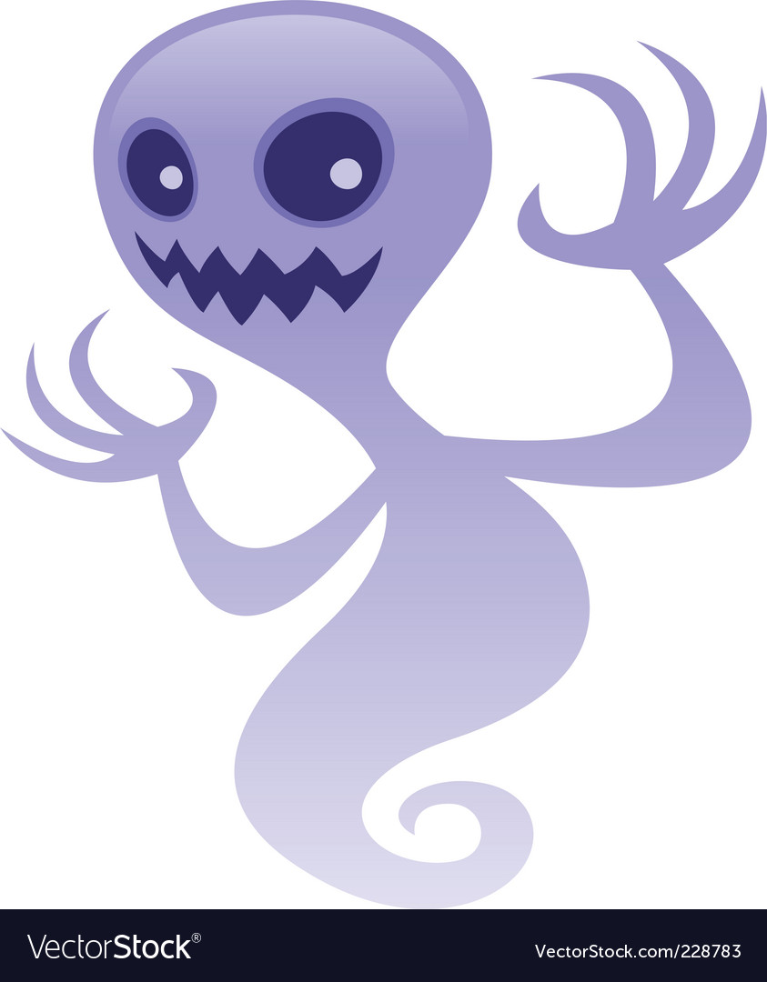 Grinning ghost vector image