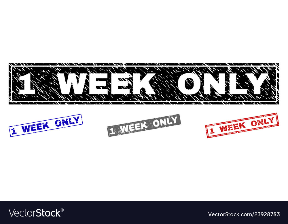 Grunge 1 week only textured rectangle watermarks