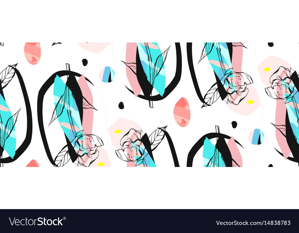 Hand made abstract textured trendy creative vector image