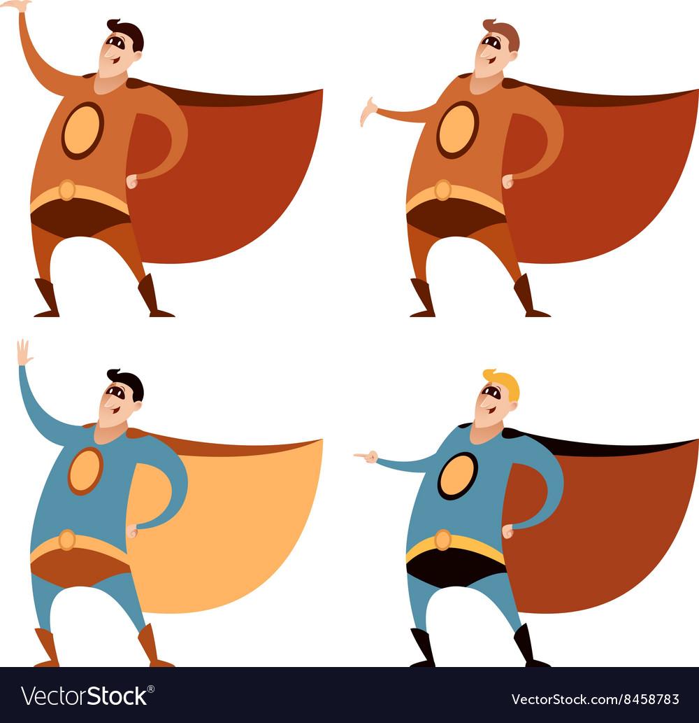 Set of superheroes