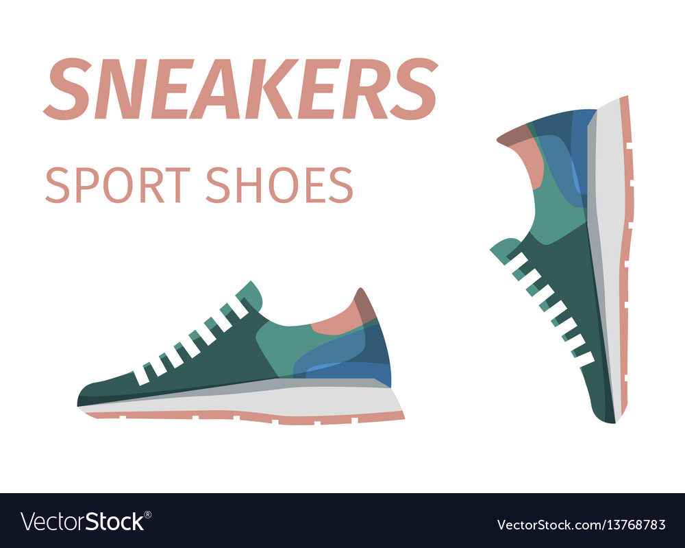 Trendy sneakers sport shoes isolated